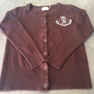 Juicy couture sweater button up sz Med